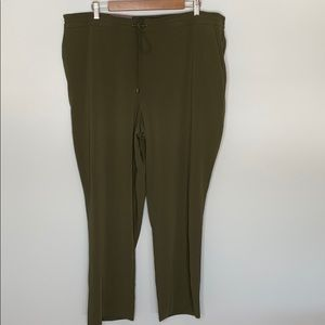 Hilary Radley green drawstring trousers sz  XXL